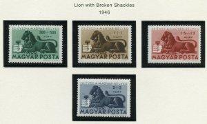 HUNGARY SCOTT#B188/91  MINT NEVER HINGED AS SHOWN--SCOTT VALUE $9.00