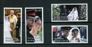 BARBADOS 2019 ROYAL WEDDING OF HARRY & MEGHAN   SET OF FOUR  MINT NEVER HINGED