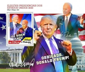 Sao Tome & Principe Joe Biden Stamps 2020 MNH US Elections Donald Trump 1v S/S