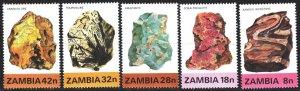 Zambia. 1982. 268-72. Minerals. MNH.