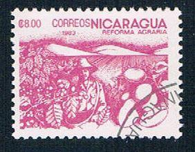 Nicaragua 1304 Used Coffee beans lr 1983 (N0626)+