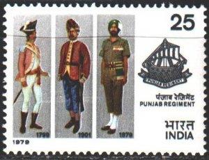 India. 1979. 782. 4th Punjab Regiment, uniform. MNH.