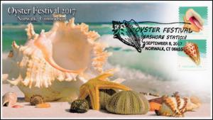 17-276, 2017, Oyster Festival, Norwalk CT, Event Cover, Pictorial Cancel,