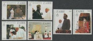 1981 Zaire 716-721 Visit of Pope John Paul II to Zaire 15,00 €