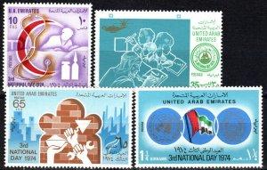 United Arab Emirates #36-9  MNH CV $14.35  (P601)