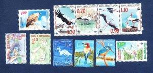 BOSNIA & HERZEGOVINA -  - FVF MNH see note -- Birds - 1998-2002