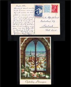 1959 - Belgium Picture postcard - Festivals & Seasonal - New Year - To Neerbe...