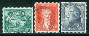 Germany Deutsche Post Scott # B306 - B308, used