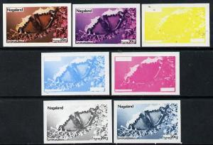Nagaland 1974 Butterflies 20c (Camberwell Beauty) set of ...
