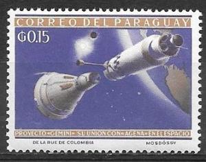 Paraguay 1964 15 cents Gemni Space Capsule & Agena Rocket, mnh, Scott #806
