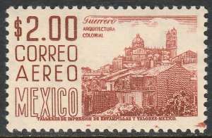 MEXICO C220Hi, $2P 1950 Definitive Perf 11 1/2 X 11 Scarce variety MINT, NH. VF