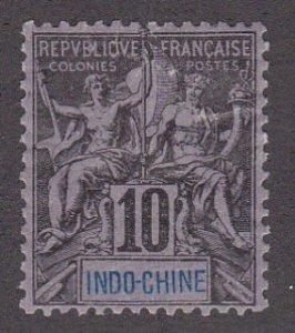 Indo-China # 8, Navigation & Commerce, Hinged, 1/3 Cat.