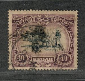 Malaya Kedah Sc#40 Used/VF, Cv. $65