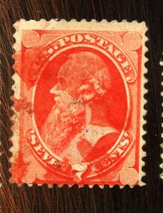 138 USED FINE RED CANCEL Cat $550
