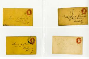 US Stamps Used 3c Envelope Entries Very Clean Selection of 6