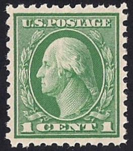424 1 cent Washington Stamp mint OG NH EGRADED SUPERB 99 XXF