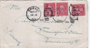 United States 1924 Chicago to Frankfurt Germany Cover VGC