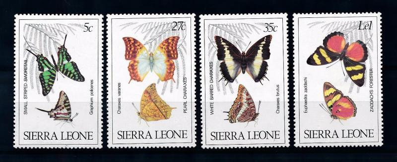 [70633] Sierra Leone 1980 Insects Butterflies  MNH