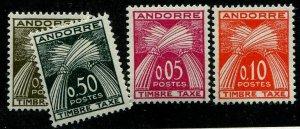 HERRICKSTAMP ANDORRA (FRENCH) Sc.# J42-45 Mint NH Scott Retail $50.00