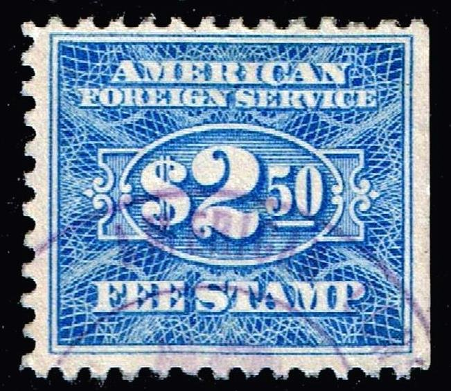 US STAMP BOB #RK36 $2.50 Consular Service Fee Stamp 1925-52 stamp