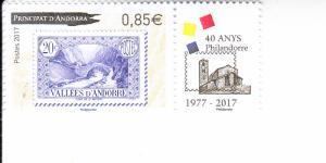 2017 French Andorra Philandorre 1977-2017 (Scott 771) MNH