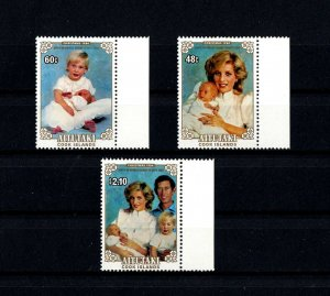 AITUTAKI - 1984 - ROYAL BABY - PRINCE HENRY - DIANA - FAMILY + MINT - MNH SET!