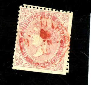 SPAIN #91 USED FVF CLIPPED PERFS Cat $425