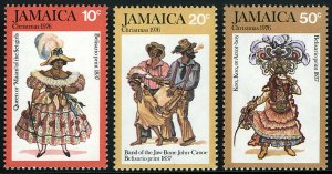 Jamaica 416-418, MNH. Christmas. Belisario Prints, 1976
