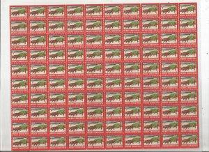 1947 CHRISTMAS SEALS, FULL SHEET