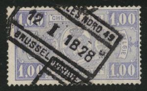 Belgium Parcel Post Scott Q150 Used 1923