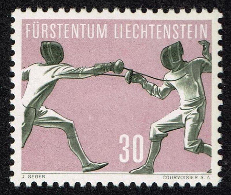 Liechtenstein Stamp 1958 Sport MH/OG STAMP  30 RP