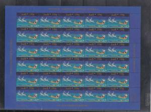 Greenland 1996 Mint Never Hinged Christmas Stamps Sheet ref R17552