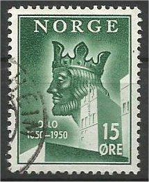 NORWAY, 1950 used 15o, King Harald. Scott 304