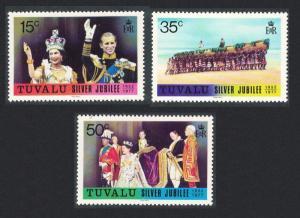 Tuvalu Silver Jubilee 3v 1977 MNH SG#50-52 SC#43-45