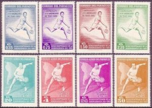 Paraguay 630-37,MNH.Michel 1001-1008. South American Tennis Championships,1962.