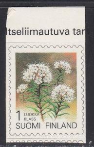 Finland # 839, Flowers, Self Adhesive, NH, 1/2 Cat.