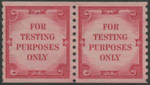 #TD108 XF PAIR OG NH 1970 B.E.P. FOR TESTING PURPOSES ONLY WITH CERT WLM242