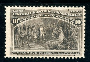 USAstamps Unused FVF US 1893 Columbian Expo Presenting Natives Sctt 237 OG MHR