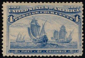 US #233 Fleet of Columbus; MNH (3Stars)
