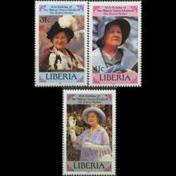 Liberia MNH 1037-9 Queen Mother's 85th Birthday 1985 SCV 3.40
