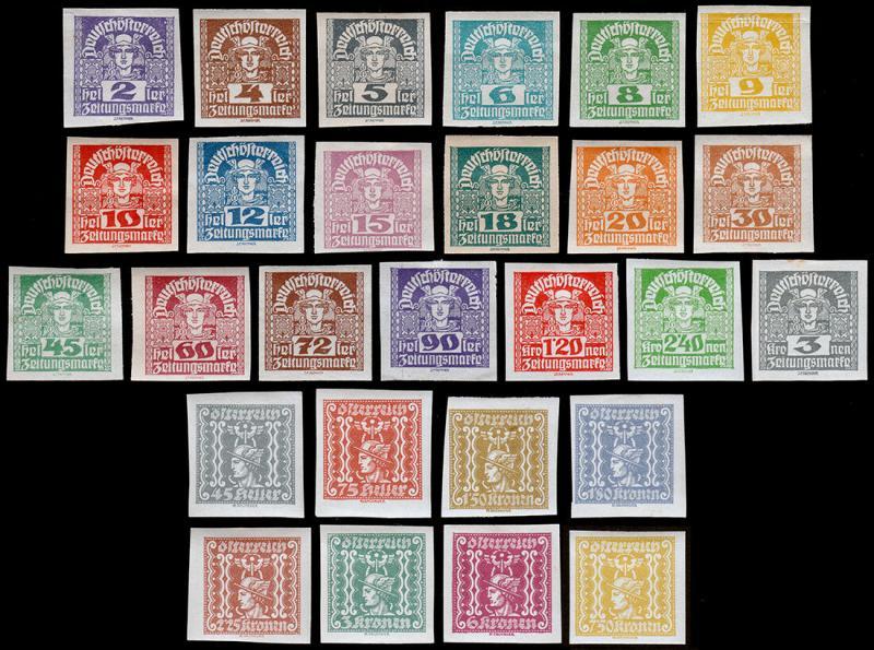 Austria Scott P29-P47, P48-P55 (1920-22) Mint H F-VF Complete Sets
