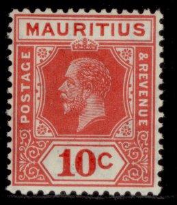 MAURITIUS GV SG230, 10c carmine-red, M MINT.