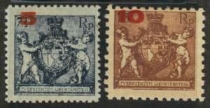 Liechtenstein 70 & 71 Mint F-VF H (70 hr)
