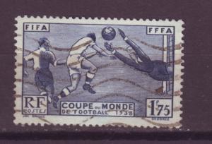 J16259 JLstamps 1938 france set of 1 used #349 sports soccer