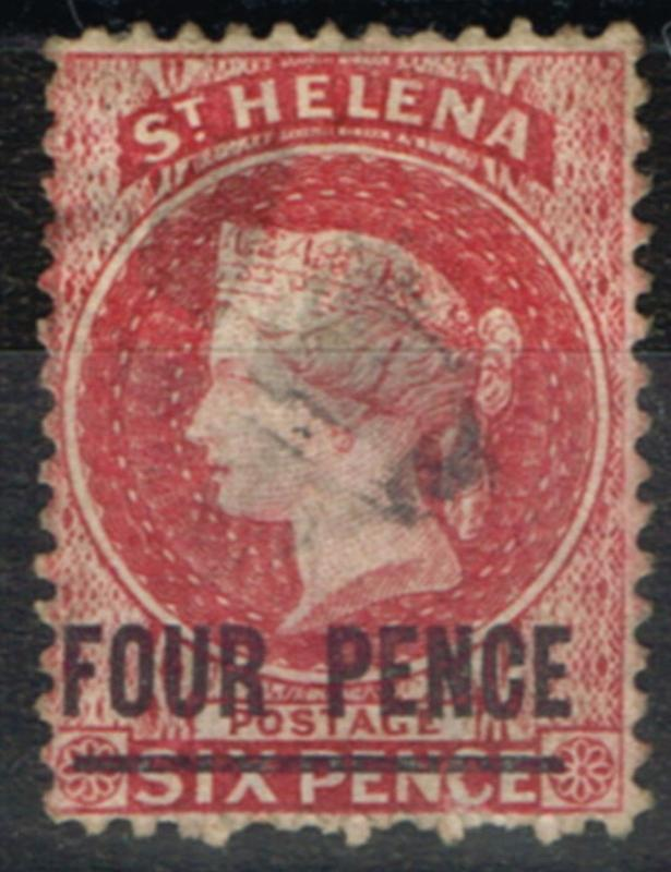St Helena 1864 4d Carmine SG13 Type A Fine Lightly Used