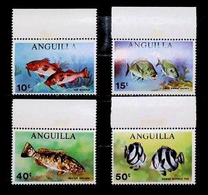 British Colony Anguilla 1969 Fish MNH** Full Set A22P16F8707