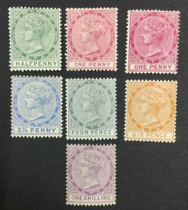 MOMEN: DOMINICA SG #20-26,22a 1886-90 MINT OG LH £260 LOT #62129