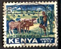 Kenya; 1963: Sc. # 1: O/Used Single Stamp