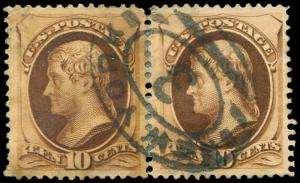 momen: US Stamps #187-188 Used Combination Pair
