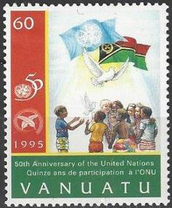 Vanuatu 660  MNH  United Nations 50th Anniversary